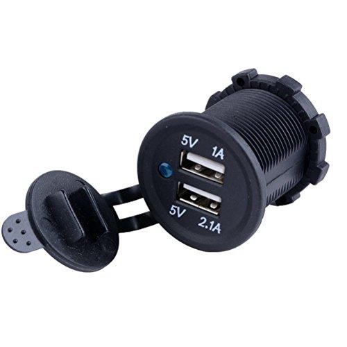 Oferta de Pixnor Doble puerto USB adaptador de coche mechero Socket Splitter 12v cargador