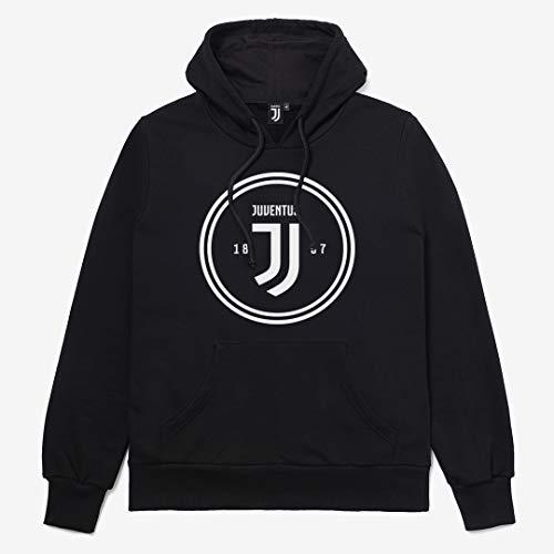 Juventus Felpa Uomo con Cappuccio - Chiusura Full Zip - Uomo - Collezione 2020/2021-100% Originale - 100% Prodotto Ufficiale - Scegli la Taglia (Taglia M)
