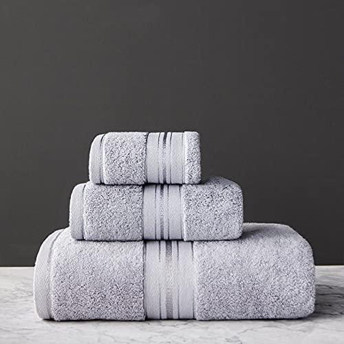 Juego de toallas de baño 3 piezas/set 34X34Cm, 34X75Cm, 70X150Cm 100% algodón toalla adulto hogar textil