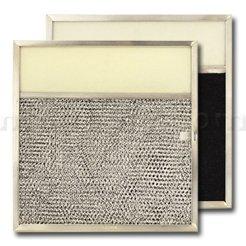 American Metal Aluminum/Carbon/Lens Range Hood Filter -11 1/2 x 11 3/4 x 3/8 Inches - 3-1/2 Inch Lens (Original Version)