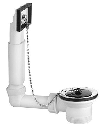 Viega 100834 Ab- und Überlaufgarnitur 7462.71 Anschluss 1 1/2 Zoll, Platten-ø 70 mm, für Spülen