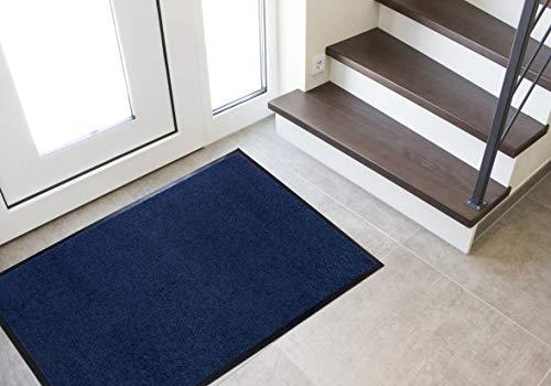 Andiamo Fußmatte Sauberlaufmatte Schmutzabstreifer Türvorleger Schmutzfangmatte Fußabtreter Türmatte, rutschhemmend waschbar Polyamid, Blau, 60 x 90 cm