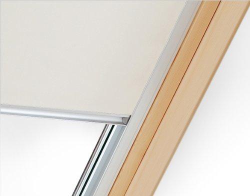 Verdunklungsrollo mit Hitzeschutz für Velux Dachfenster GGU, GPU, GLU, GGL, GPL, GLL (M08, MK08, 308*, 2*, Beige)