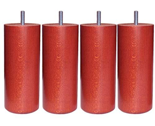 Alinea x15. Wood Selection Cylindre Lot de 4 pieds de sommier tapissier H15cm Noir