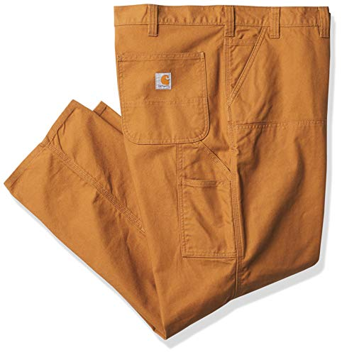 Carhartt Men's Big & Tall Rugged Flex Relaxed Fit Duck Dubble-Front Utility Work Pant, Brown, 46 x 32