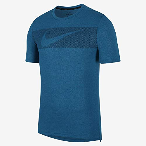 Nike Men's Hyper Dry Graphic Tee - Green Abyss/HTR/Obsidian, XX-Large