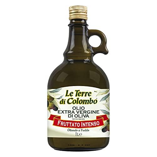 Le Terre di Colombo – Huile d'olive extra-vierge, à la saveur extra-fruitée et produite en Europe, 1l