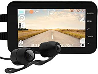 Máy thâu hình đặt trên xe ô tô – Fenlee's Camera Motorcycle Dash Cam 1080p Dual Lens Video Recorder Motorcycle Dash Cam Sports Action Camera 4″ LCD Screen 140 Degree Angle Night Vision. Motorcycle DVR