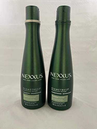 Nexxus Diametress Volumizing Combo Pack, Rebalancing Shampoo + Restoring Conditioner, 13.5 Ounce Each, Packaging May Vary