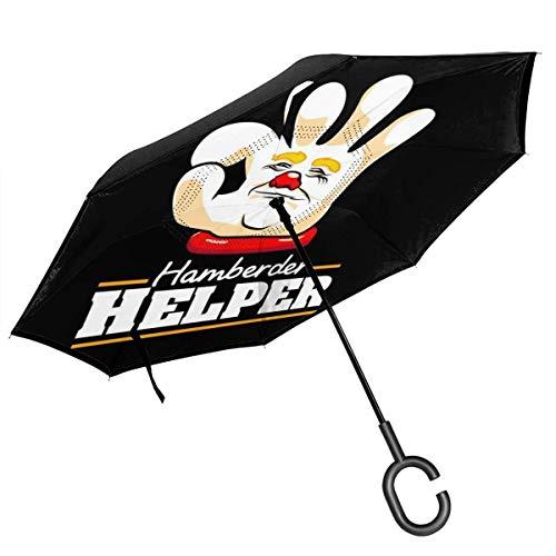 Virgil Frank Trump Handberder Helper Double Layer Inverted Umbrella für das umgekehrte Zusammenklappen von C-förmigen Händen - leicht und Winddicht
