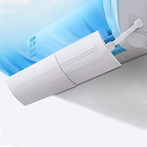 JANGZIIA Deflettore Regolabile per climatizzatore Parabrezza Aria condizionata Scudo del condizionatore Freddo/Calda, per casa/Ufficio,Anziani, Neonati, Donne in Gravidanza - Bianco