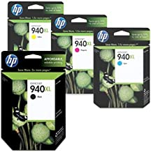 Genuine HP 940XL 4 Color Combo Pack: Black, Cyan, Magenta, Yellow in Retail Boxes 2012