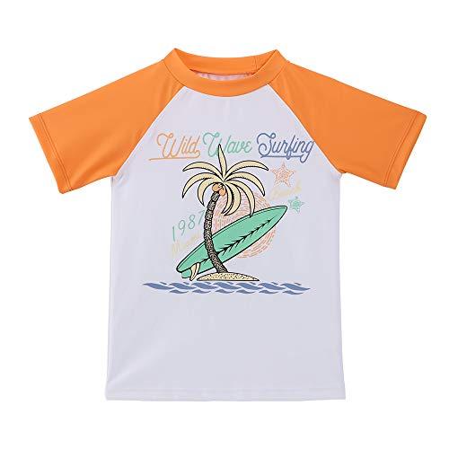 TIZAX jongens 'Rash Vest UPF50+ zon bescherming Kids korte mouw zwemmen Tops Quick Dry Rash Guard