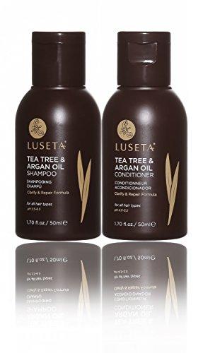 Luseta Teebaum & Arganöl-Shampoo & Conditioner, Set reinigt und entfernt Unreinheiten, farbsicher, sulfatfrei, phosphatfrei, parabenfrei