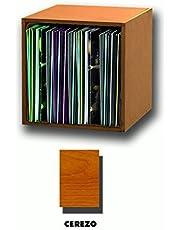 MODULO ESTANTERIA Color Cerezo para Discos DE Vinilo/Ref. MAR040