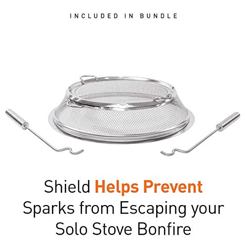 Product Image 4: Solo Stove Bonfire Backyard Bundle Includes Bonfire Fire Pit with Stand, Bonfire Shield, Carry Case, and Waterproof Shelter
