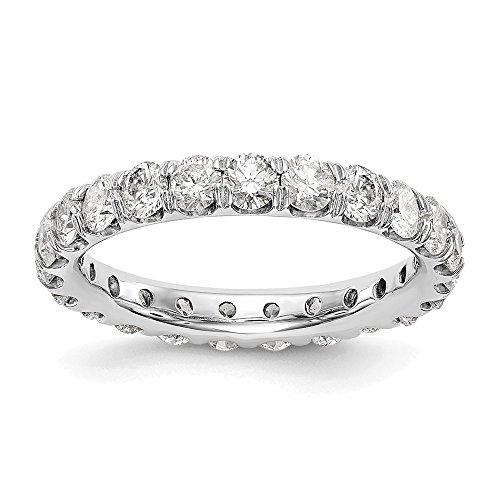 14ct White Gold True Origin Lab-Grown Diamond Eternity Band Ring, VS/E- 3 cttw for Women