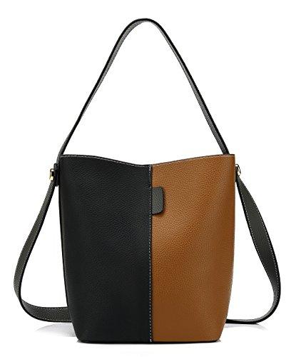 Scarleton Dual Color Crossbody Bag, Handbag for Women, Tote Bag H20590114 - Black/Khaki