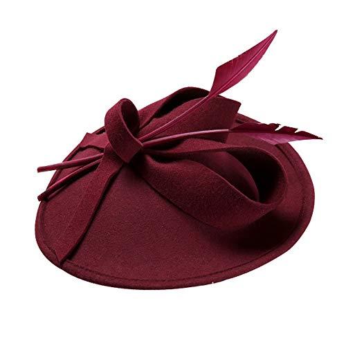 LL Damenhut Frauen Hut Mode Warmer Hut Hut Herbst und Winter Hohe Qualität Woolen Vintage Headwear Elegante Damen Hut