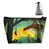 Cartoon Anaconda On Branch Women Cosmetic Bags Multifunktions-Kulturbeutel Organizer Travel Wash Lagerung (Trapez)