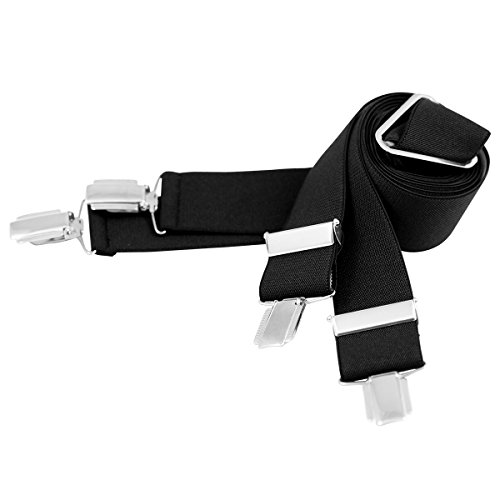 Lindenmann Mens Braces/Suspenders/mens suspenders, X-shape, 35 mm stetch, XXL, black, 9171-007, Größe/Size:120
