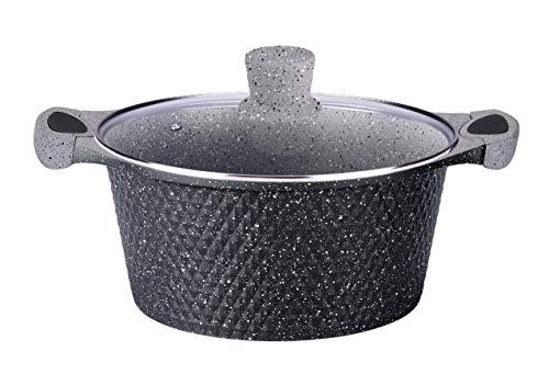rukauf HQ Premium Kochtopf mit Granit Keramikbeschichtung 6 Liter 28cm Durchmesser Keramik Design Kasan/Kazan