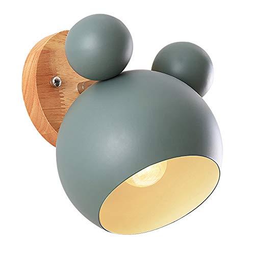 Kreativ Wandleuchte Moderne Wandlampe Einfach Kerze Wandleuchte Eisen HolzE27 Base Nordischen Stil Art Deco für Schlafzimmer, Wohnzimmer, Kinderzimmer, Restaurant, Leuchte Flur Lampe