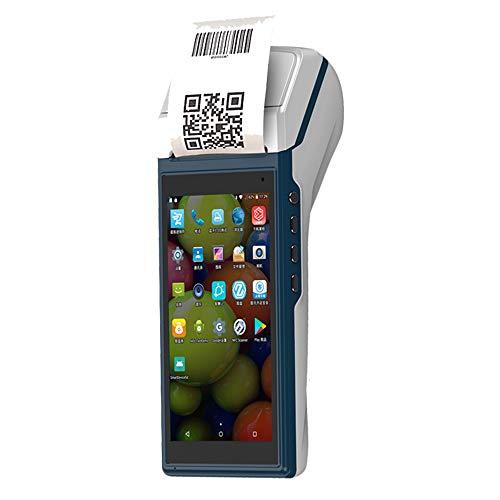 LLC-POWER Android POS Terminal avec 58Mm Réception Imprimante, Écran Tactile 5,5 Pouces, Support 1D Code 2D Lecture 3G WiFi BT NFC, Base De Charge, Restaurant Snack Bar