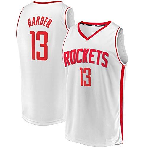 Camisetas de la NBA del Baloncesto para Hombre, James Harden 13# Houston Rockets Jersey - Chaleco Deportivo de Malla Tops Uniformes de Camiseta sin Mangas,1,M (170~175CM / 65~75KG)