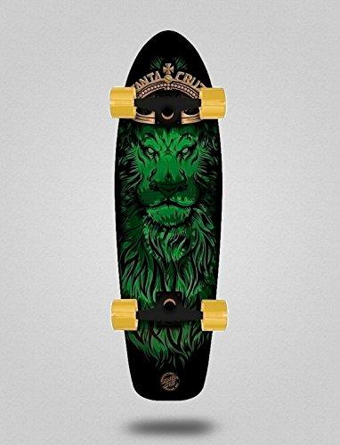 Santa Cruz Skate Longboard Cruiser Complete Jammer Lion God Cruzer 7.4 X 29.1