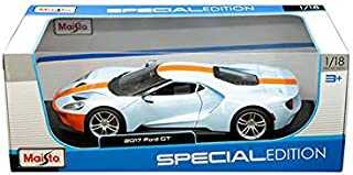 New DIECAST Toys CAR MAISTO 1:18 Special Edition - 2017 Ford GT (Light Blue with Orange Stripe) 31384BLOR