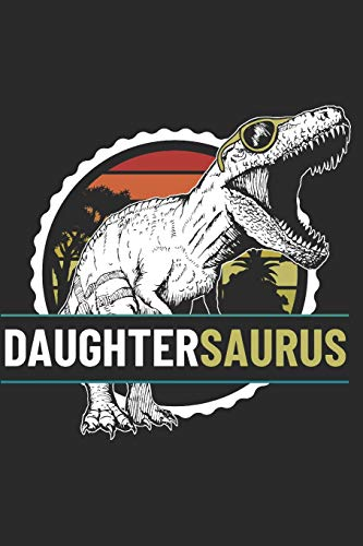 DaughterSaurus: Blank Lined Notebook Journal Dinosaur Gift for Daughter Design Cover