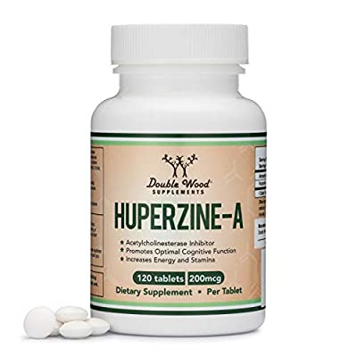 Huperzine A 200 mg Nootropics Brain Supplement to Boost Acetylcholine Improve Memory and Focus