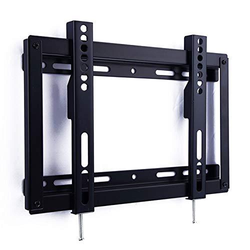 Soporte tv suelo Soporte de montaje de pared de TV fijo de bajo perfil para la mayoría de 14-32 pulgadas LED, soporte de video LCD y soporte del proyector y ahorrar espacio, MAX VESA 200x200mm de hast