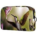 Bolsa Maquillaje Almacenamiento organización Artículos tocador cosméticos Estuche portátil Brote de pájaros de la Gloria de la mañana para Viajes Aire Libre