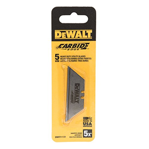 DeWalt Carbide Edge Utility Knife Blade - Last 10x Longer (5-Pack)