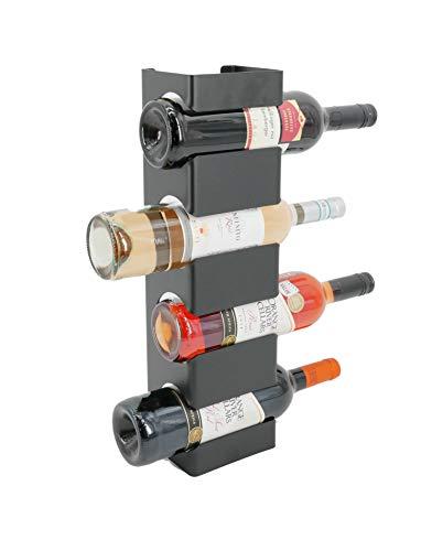 tradeNX Weinregal Flaschenhalter | modernes Design | inkl. Montagematerial (Schwarz)
