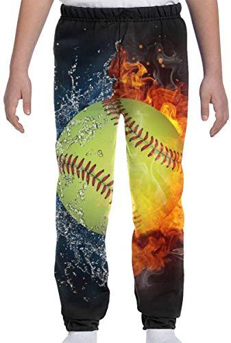 Cainy Jugend Kinder Jogginghose Feuer Softball Wasser Baseball Jungen Jogger Hose Sporthose mit Kordelzug XXXL