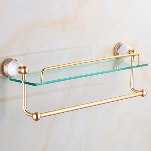 Rand naar plank goud keramische enkele - laag dressoir badkamer rekken badkamer planken glas dressoir tafel(550 * 170mm)