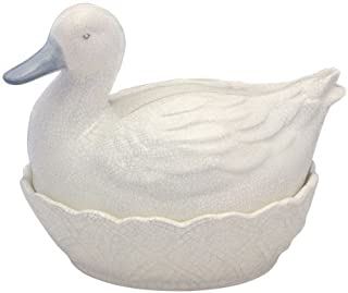 Fairmont and Main Ceramic Egg Basket, Emma Blue Crackle