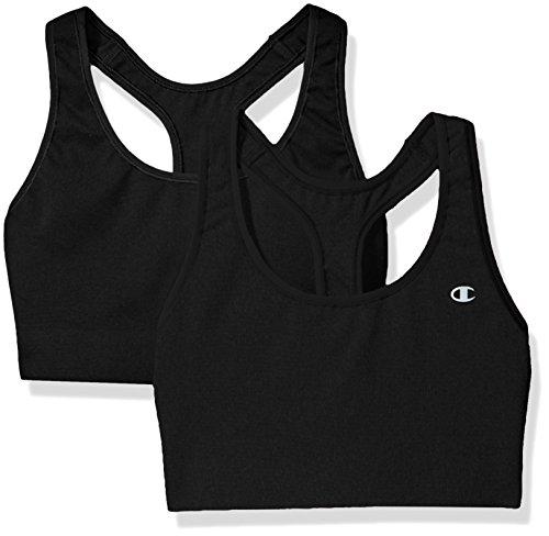 Champion Women's Absolute Bra-2 Pack, Black, Medium
