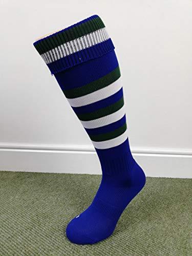 Canterbury Striped Socks - Royal/Forest/White