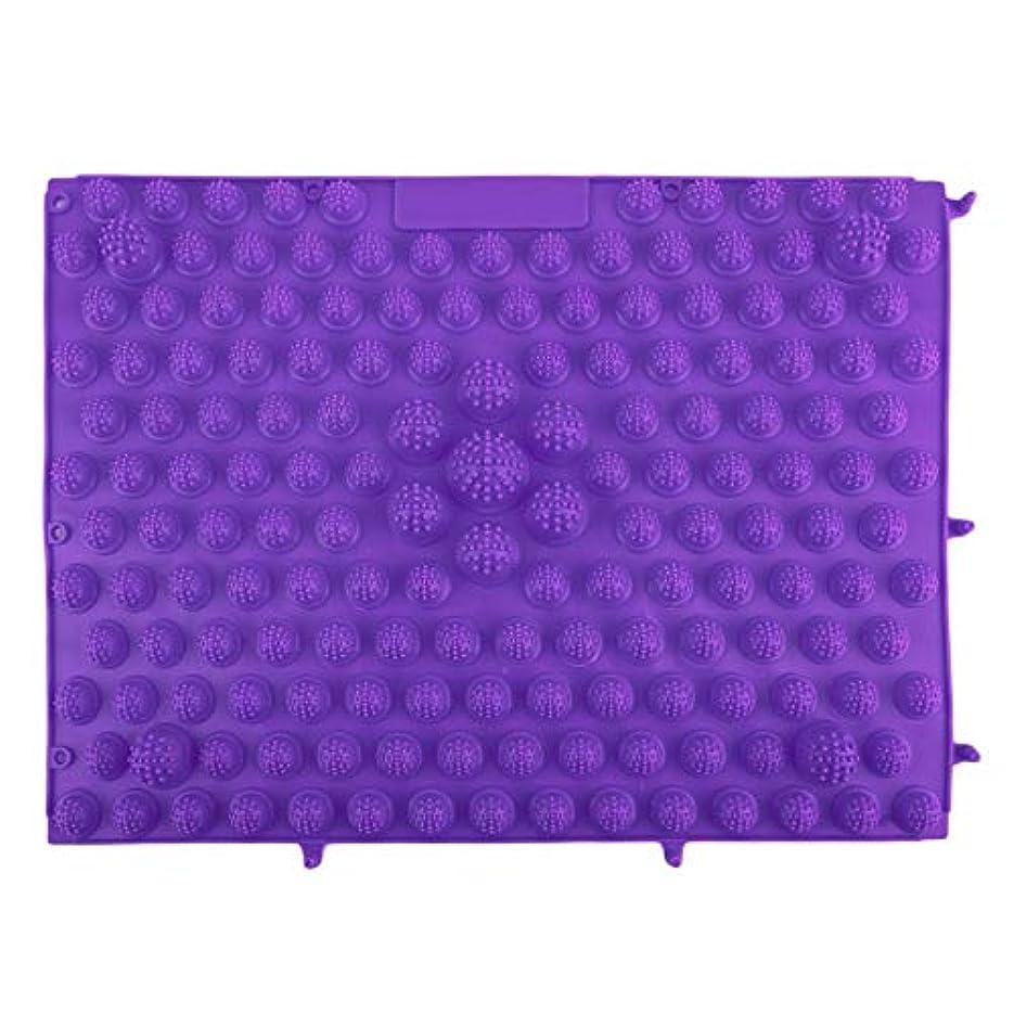時間とともに受け入れヘッドレス韓国風フットマッサージパッドTPEモダン指圧リフレクソロジーマット鍼灸敷物疲労緩和促進循環 - 紫色