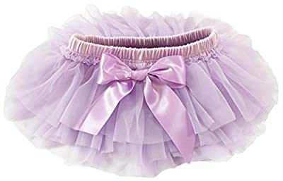 Baby Girl Chiffon Ruffle TUTU Diaper Cover Newborn Photo Prop (0-3 Months, Lavender)
