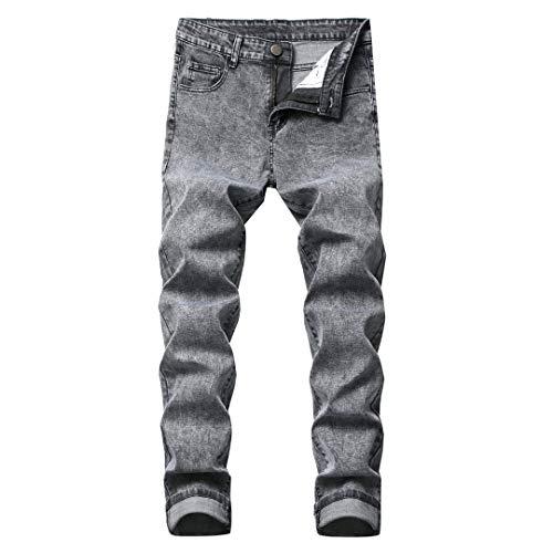 CAMOKUYR Classic Jean Uomo Jeans Famosa Etero Business Casual in Cotone Denim Pantaloni 8821 USA Size 1 42