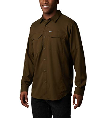 Columbia Men's Silver Ridge Lite Long Sleeve Shirt, Olive Green, Small