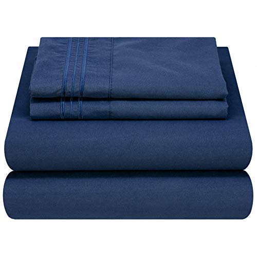 Mezzati Luxury Bedding Set Queen - Soft and Comfortable 1800 Prestige Collection - Brushed Microfiber (Blue, Queen Size)