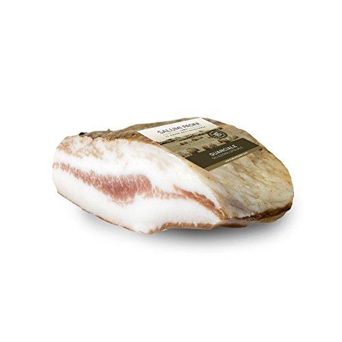 Guanciale Stagionato, Bacon italiano, Salumi Pasini, 250 gr
