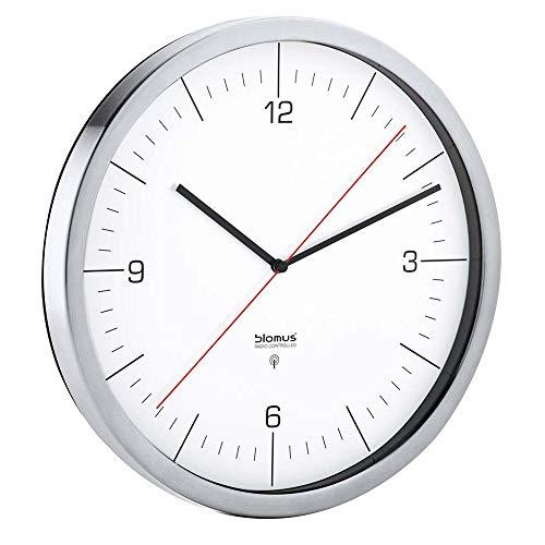 blomus Crono Reloj con Control por Radio, weiß, 30.5 x 30.5...