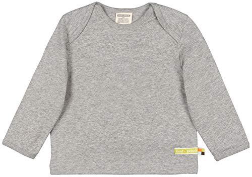 loud + proud Kinder-Unisex Shirt Uni Aus Bio Baumwolle, GOTS Zertifiziert Sweatshirt, Grau (Grey Gr), 68 (Herstellergröße: 62/68)